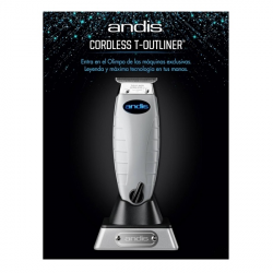 ANDIS MAQUINA T-OUTLINER CORDLESS